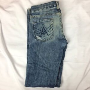 7 For All Mankind Size 25 Wide Leg Distressed Jean